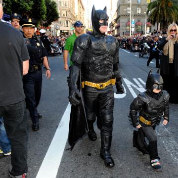 SAN FRANCISCO, CA - NOVEMBER 15: Atmosphere  at Batkid's Make-a-Wish As San Francisco Transforms into Gotham City on November 15, 2013 in San Francisco.