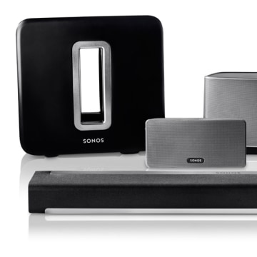 Sonos family of wirelessly synced speakers