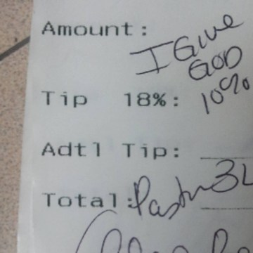 Image: Applebee's receipt