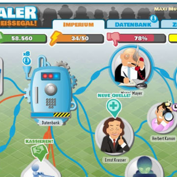 """Data Dealer"" promises to give players the chance to ""become Larry Page, Mark Zuckerberg, or even Edward Snowden, as you control the flow of data — and the price tag that comes with it."""