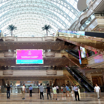 New Century Global Centre escalators