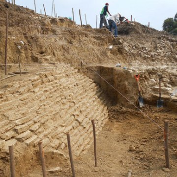 The remains of this ancient pyramid were discovered in Jaltipan.