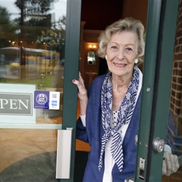 June Springer, poses for a photograph, where she works at Caffi Contracting Services, Friday, July 12, 2013 in Alexandria, Va. Springer who just turne...