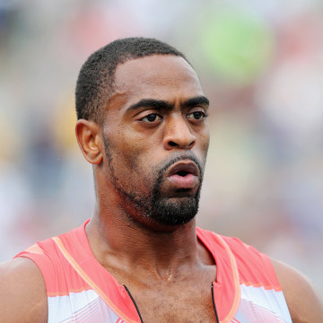 FILE - JULY 14, 2013:  It was reported that sprinter Tyson Gay has tested positive for a banned substance and has pulled out of next month's World Cha...
