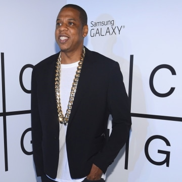 BROOKLYN, NY - JULY 03:  JAY Z attends JAY Z and Samsung Mobile's celebration of the Magna Carta Holy Grail album, available now through a customized ...