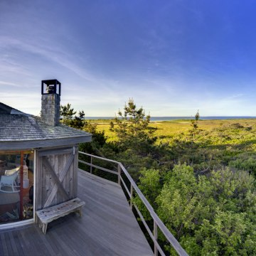 Image: View from the one-bedroom beach house at Homer's Pond, a property on Martha's Vineyard listed for $119 million.