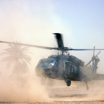 Image of a helicopter landing
