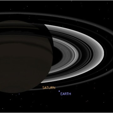 Image: Cassini view of Saturn and Earth