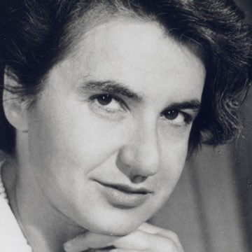 This portrait of Rosalind Franklin was taken during her second visit to the United States. (National Library of Medicine NIH)