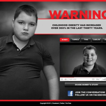 "Part of the 2011 ""Stop Child Obesity"" campaign in Georgia."