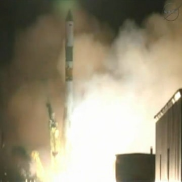 A Russian Soyuz rocket launched on July 27, 2013 carrying the unmanned Progress 52 resupply vehicle for the International Space Station.