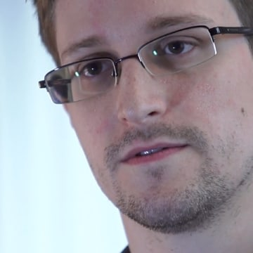 HONG KONG - 2013: In this handout photo provided by The Guardian, Edward Snowden speaks during an interview in Hong Kong. Snowden, a 29-year-old forme...