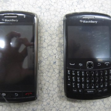 Seized counterfeit Blackberry phones are pictured in this handout photo courtesy of the U.S. Customs and Border Protection taken in Los Angeles and re...