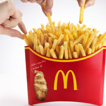McDonald's is offering a belt-busting, 1,142-calorie serving of fries, dubbed Mega Potato, in Japan.