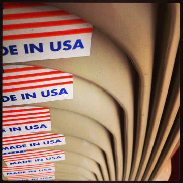 "An Instagram photo shows ""Made in USA"" labels."