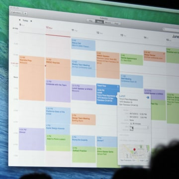 Mac OS X Mavericks calendar