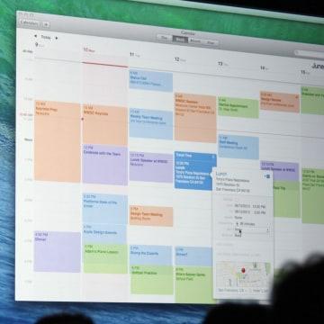 Mac OS X Mavericks calendar