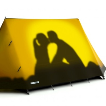The 'get a room' tent.