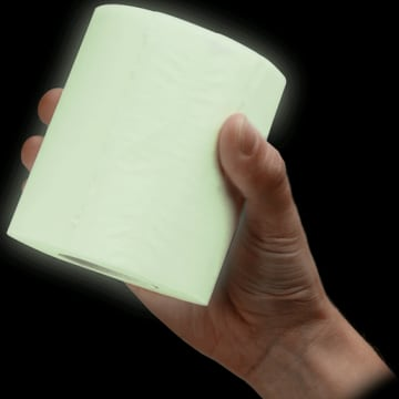 See where you're going when you need to go, with this glow-in-the-dark toilet paper.
