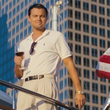 "Image: Leonardo DiCaprio in ""The Wolf of Wall Street"""