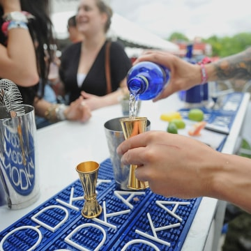 NEW YORK, NY - JUNE 08:  A general overviw of the SKYY Vodka stage At Governors Ball - Day 2  on June 8, 2013 in New York City.  (Photo by Brad Barket...