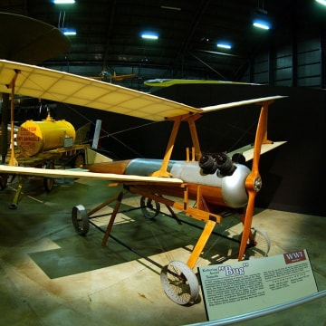 This model of the Kettering Bug is stationed a the National Museum of the Air Force in Dayton, Ohio