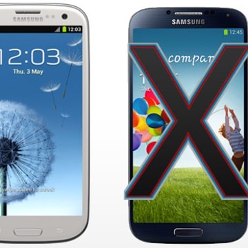 Samsung Galaxy S III, left and S 4