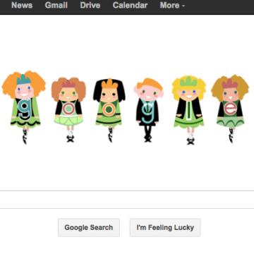 Google St. Patrick's Day Doodle 2013