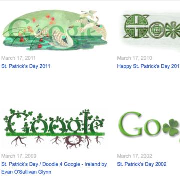 Other St. Patrick's Day Google Doodles