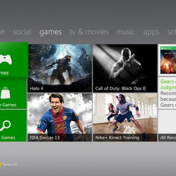 Xbox Live dashboard