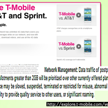 Compare T-Mobile with AT&T and Sprint - checking the fine print