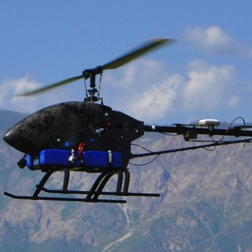 The police department in Arlington, TX got FAA approval to use two Leptron helicopter drones like this one.