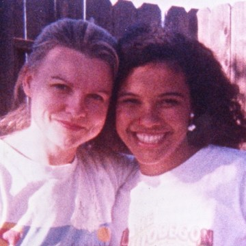 Michal Poe and Gina Poe in 1991.