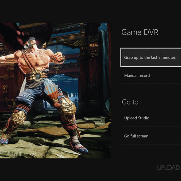 Xbox One records up to five minutes of 720p-resolution gameplay