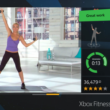 Xbox Fitness is one of the Microsoft-made games that will ship with the Xbox One.
