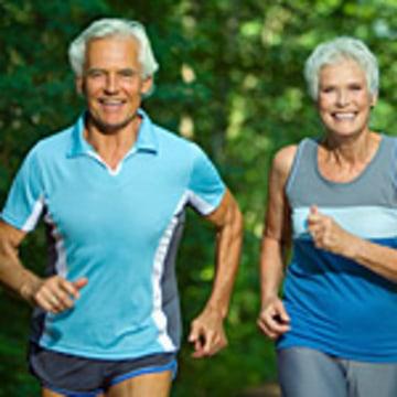 seniors jogging