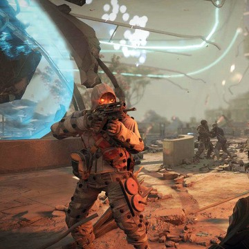 """Killzone: Shadow Fall"" was clearly meant to bring first-person shooter fans to the new system en masse. But neat sci-fi visuals aside, seasoned gamers won't find anything special here."