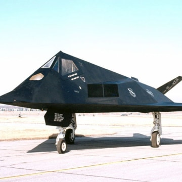 Stealthy F-117 was tested at Area 51.
