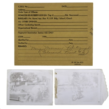 Image: Mary Ann Moorman's signature showing authenticity of photos from JFK assassination