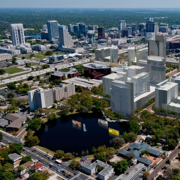 Architectural rendering of the Creative Village in Orlando, Fla. The facility which will begin vertical construction in 2014 will be on a 68 acre site...