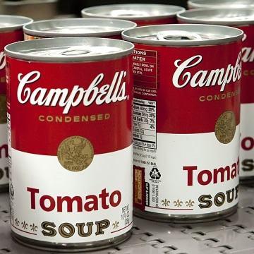 This product image released by the Campbell Soup Company shows Campbell's Tomato soup, which had its sodium reduced 32%. (AP Photo/Campbell Soup Compa...