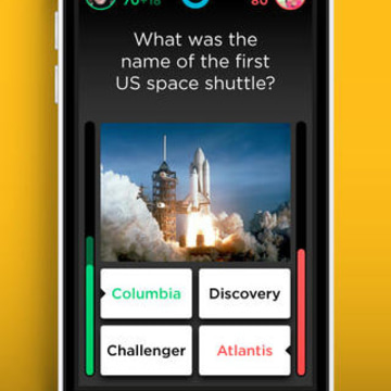 QuizUp gives people seconds to choose from four answers to a trivia question.