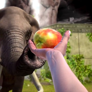"""""""Zoo Tycoon"""" shows the exciting possibilities of the new Kinect camera by allowing players to interact with animals and even make faces at them (yes, the baby chimps smile back)."""