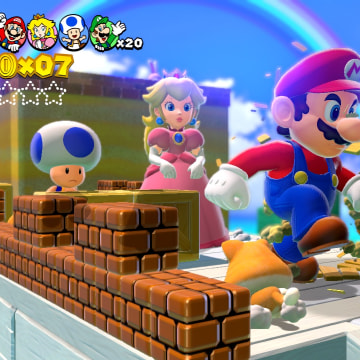 "The art style is largely unchanged from previous ""Super Mario"" games, but it looks better than ever in full 3D on the Wii U."