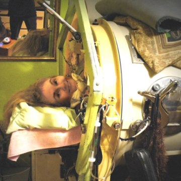Martha Ann Lillard, of Shawnee, Okla., has been in an iron lung since she was paralyzed by polio in 1953 at age 5. She's now 65 and spends most of h...
