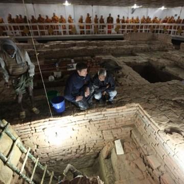 Image: Buddha site excavation