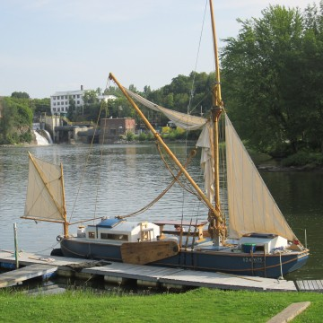 The Ceres is seen docked on Otter Creek at Vergennes Falls, Vt., in this September 2013 photo.