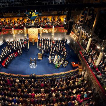 The Nobel prize ceremony in Stockholm, Sweden, December, 2012.