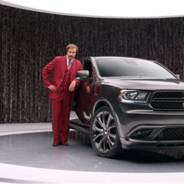 "Chrysler is taking a risk with new ads featuring Will Farrell as the ""Anchorman"" character Ron Burgundy as part of the new 2014 Dodge Durango advertisement."