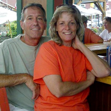 """Patty Konietzky and her husband Henry """"Butch"""" Konietsky after tubing in Helen, Ga."""